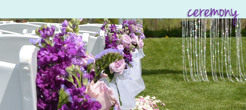 Wedding Ceremony Flowers in Sacramento from Morningside Florist
