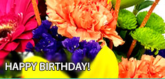 Say Happy Birthday with fresh flowers, creatively designed by Morningside Florist.