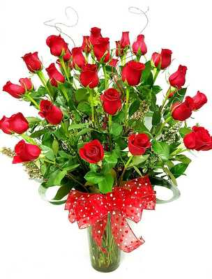 3 dozen long stem fancy red roses