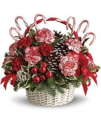 Candy Cane Basket Arrangement*