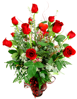 Dozen Long Stem Fancy Red Roses*