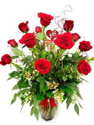 Dozen Long Stem Fancy Red Roses