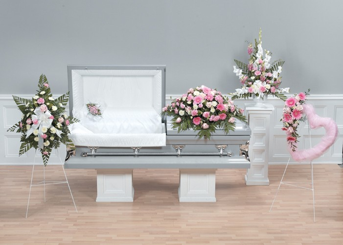 Pink Heart Funeral Package