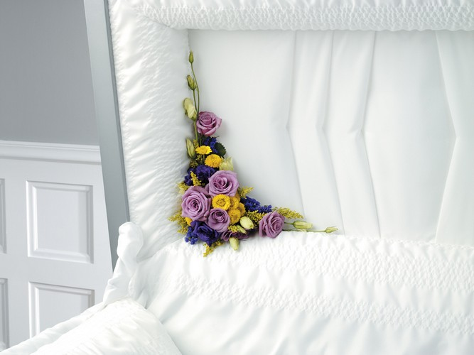 Casket floral decor