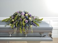 Lavender and green casket spray
