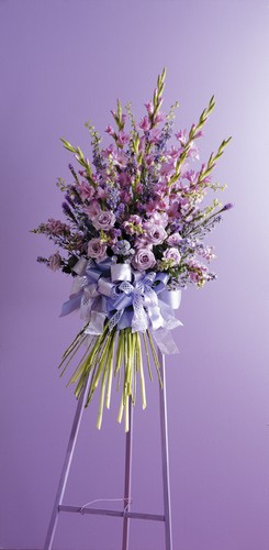 Beautiful lavender standing spray