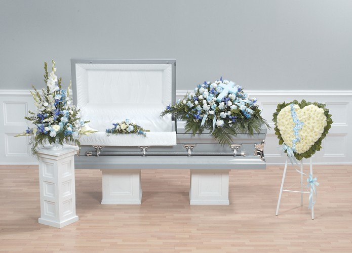 Light blue funeral package