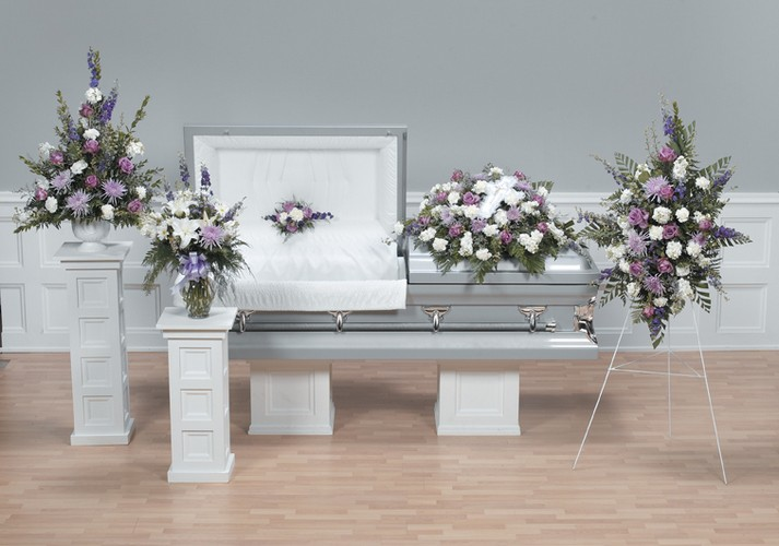 Soft colored funeral package