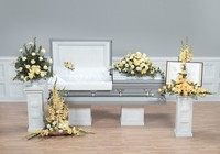 Soft yellow funeral package